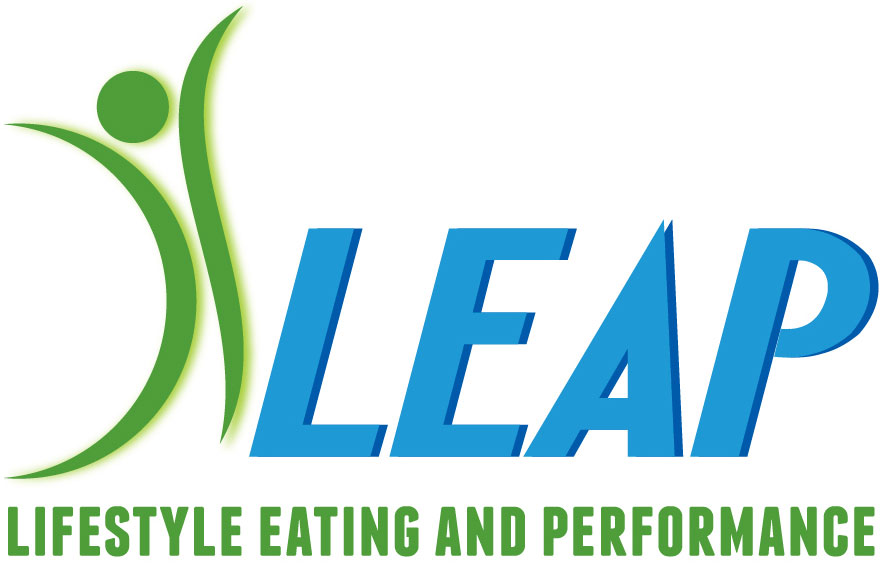 LEAP (logo): lifestyle eating and performance
